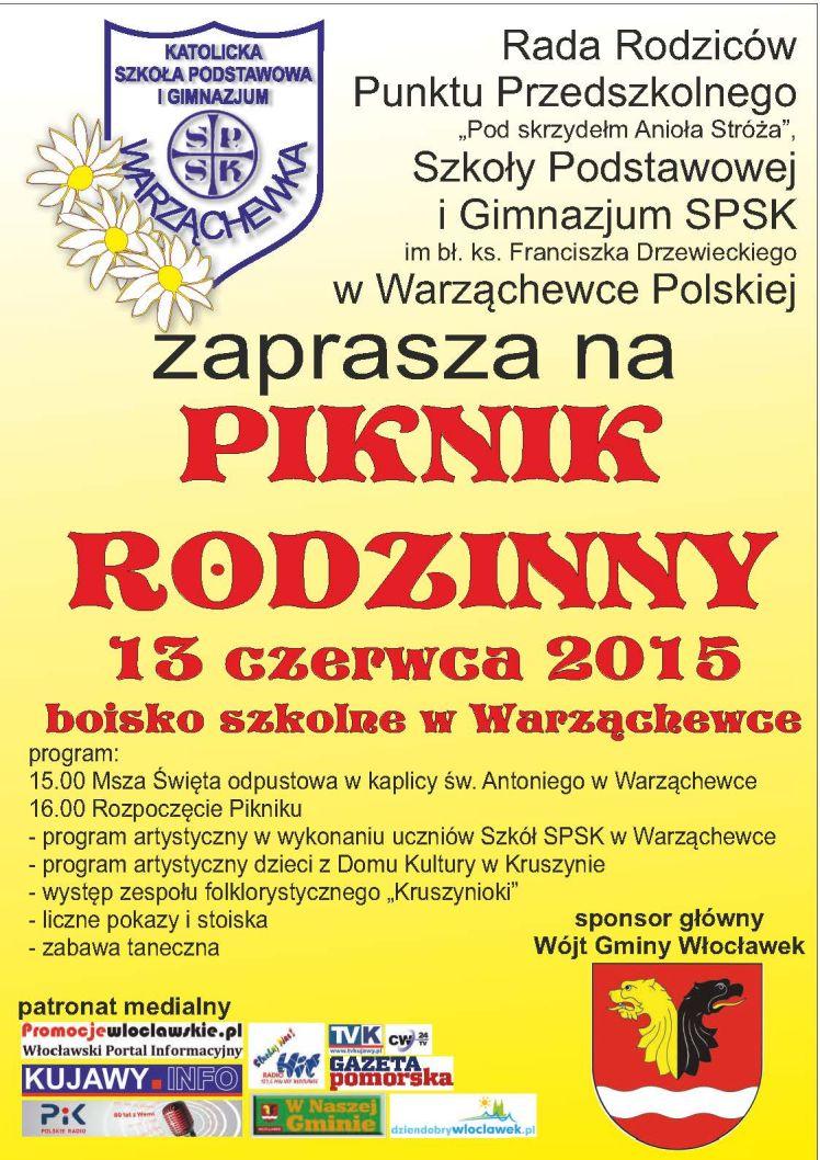 plakat - Piknik Rodzinny w Warząchewce Polskiej